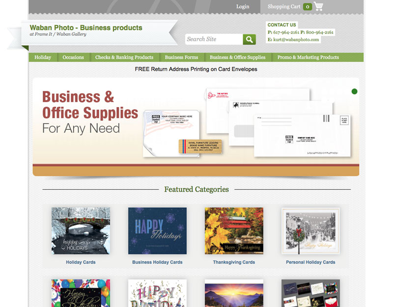 All the printed products you need to run a business.